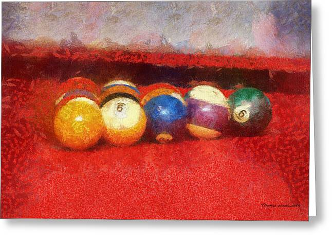 8 ball greeting cards page 12 of 13 fine art america rack of pool balls photo art 02 greeting card m4hsunfo