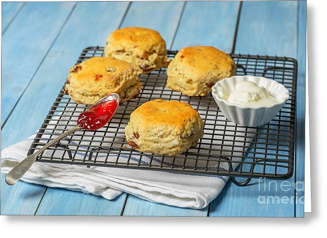 Rack Of Scones Greeting Card by Amanda Elwell