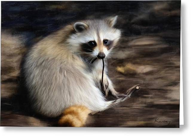 Racoon Greeting Card