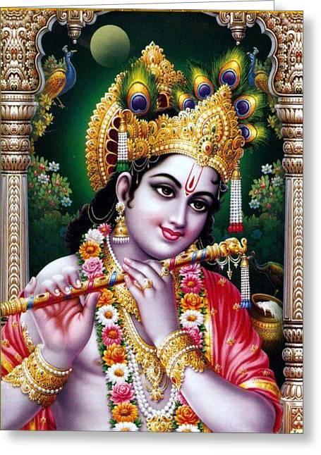 Radha Krishna Idol Hinduism Religion Religious Spiritual Yoga Meditation Deco Navinjoshi  Rights Man Greeting Card