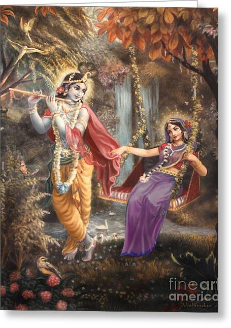 Radha's Swing Greeting Card