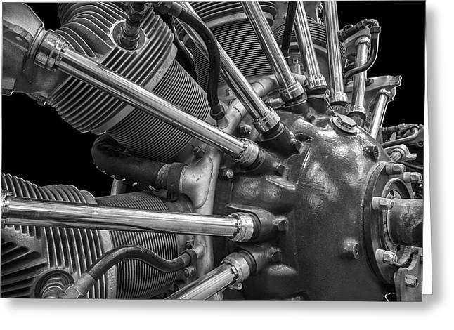 Radial Aircraft Engine Greeting Card