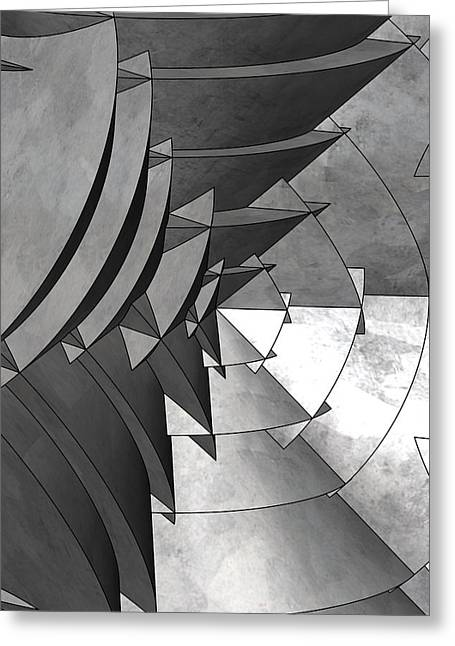 Radial Edges - Galvanized Greeting Card by Stephen Younts