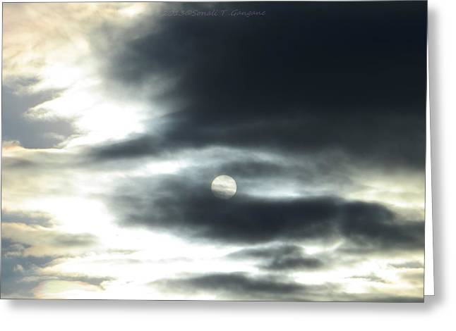 Radiance Clouded Greeting Card by Sonali Gangane