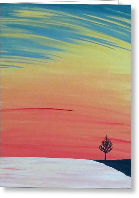 Radiance On Ice Greeting Card by Melissa F Kaelin
