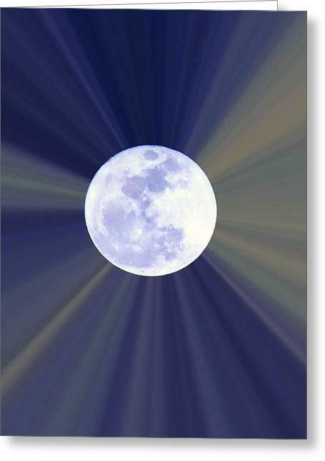 Greeting Card featuring the photograph Radiant Moon by Kelly Nowak