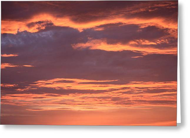Greeting Card featuring the photograph Radiant Sunset 3 by Karen Nicholson