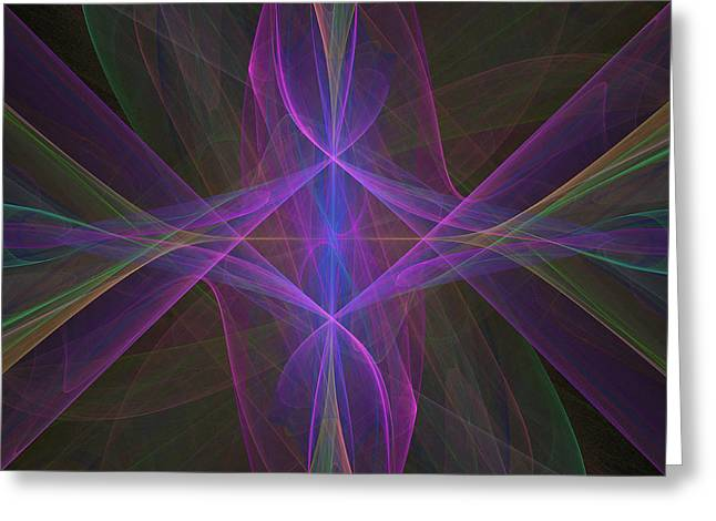 Greeting Card featuring the digital art Radiant Veils by Ursula Freer