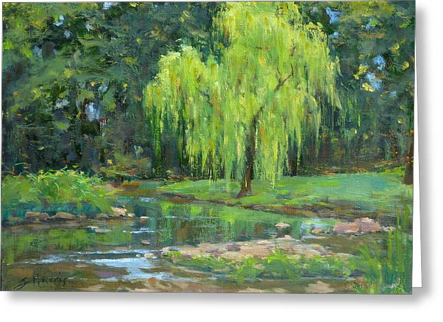 Radiant Willow Greeting Card by Sandra Harris