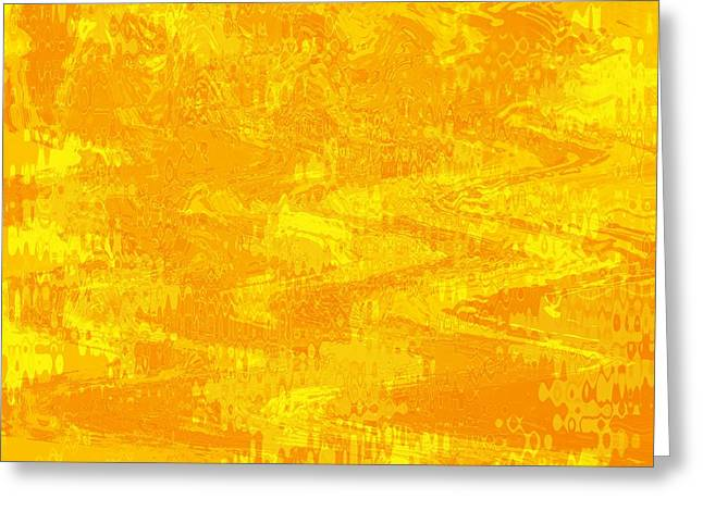Radiating Sunshine Colors - Abstract Art Greeting Card