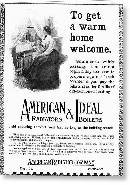 Radiator Ad, 1905 Greeting Card