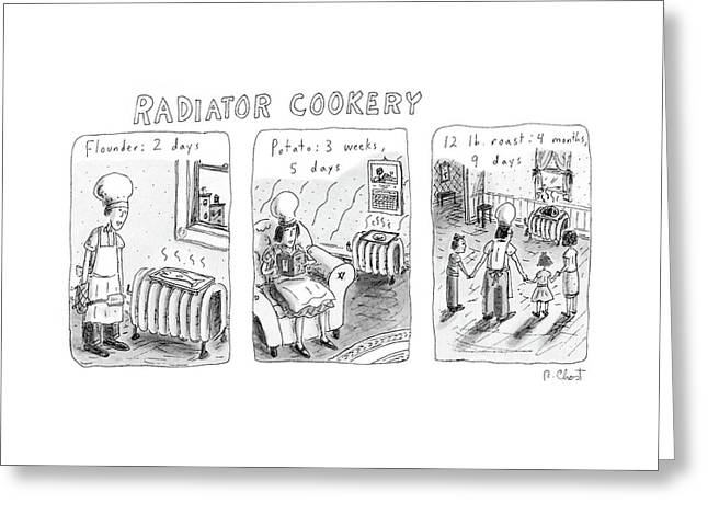 Radiator Cookery Greeting Card