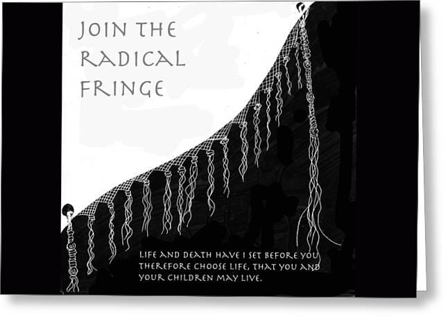 Radical Fringe Greeting Card
