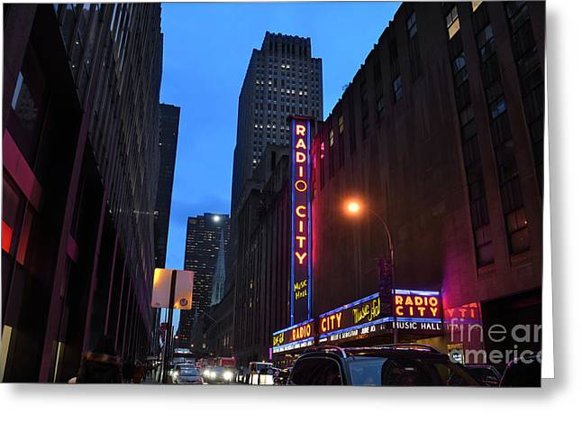 Radio City Music Hall And St Patricks Cathedral Greeting Card by RicardMN Photography