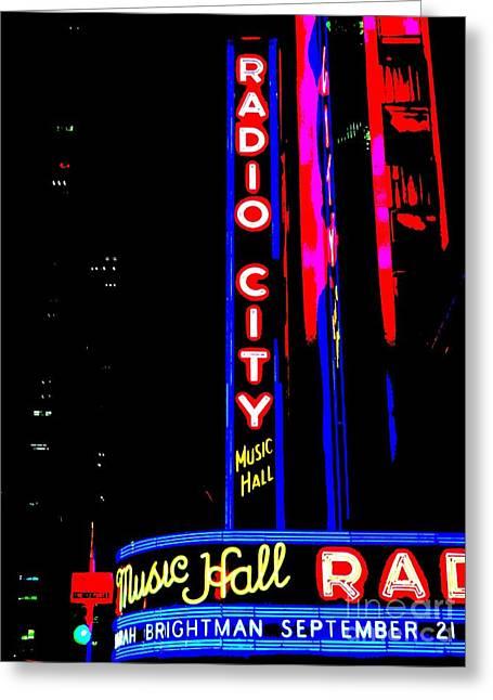 Radio City Music Hall Greeting Card by Ed Weidman
