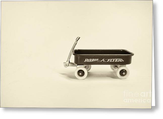Radio Flyer 2 Greeting Card by Jack Paolini