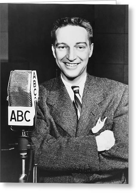 Radio Host Garry Moore Greeting Card by Underwood Archives