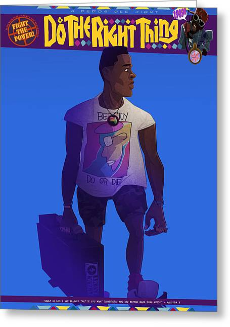 Radio Raheem Greeting Card by Nelson Dedos Garcia
