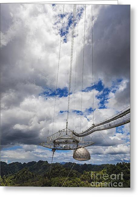 Radio Telescope At Arecibo Observatory In Puerto Rico Greeting Card