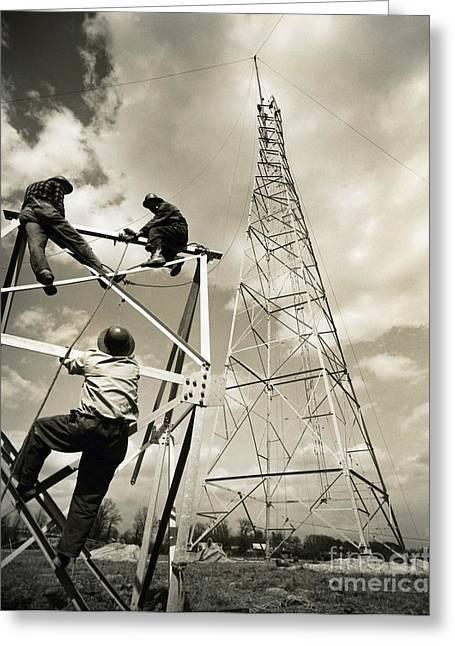 Radio Tower Greeting Card by Tom Hollyman