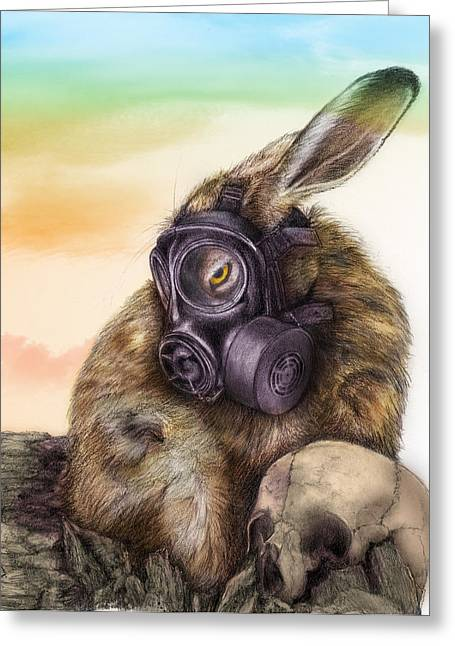 Radioactive - Color Greeting Card by Penny Collins