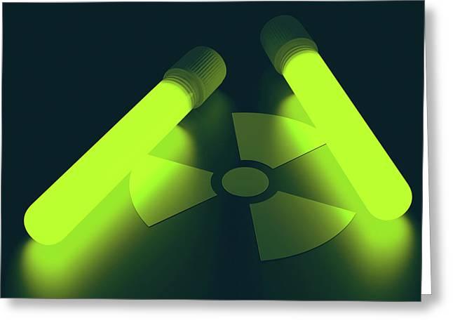 Radioactive Symbol Greeting Card by Ktsdesign
