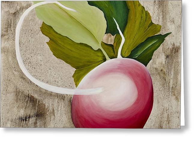 Greeting Card featuring the painting Radish by Stuart Engel