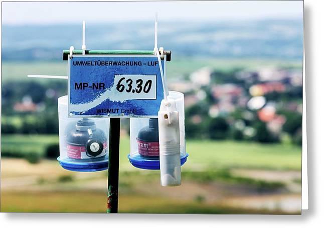 Radon Monitoring Equipment Greeting Card