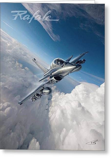 Rafale B Greeting Card by Peter Van Stigt