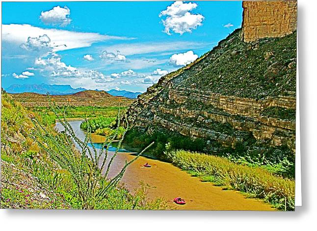 Rafting In Santa Elena Canyon In Big Bend National Park-texas Greeting Card by Ruth Hager