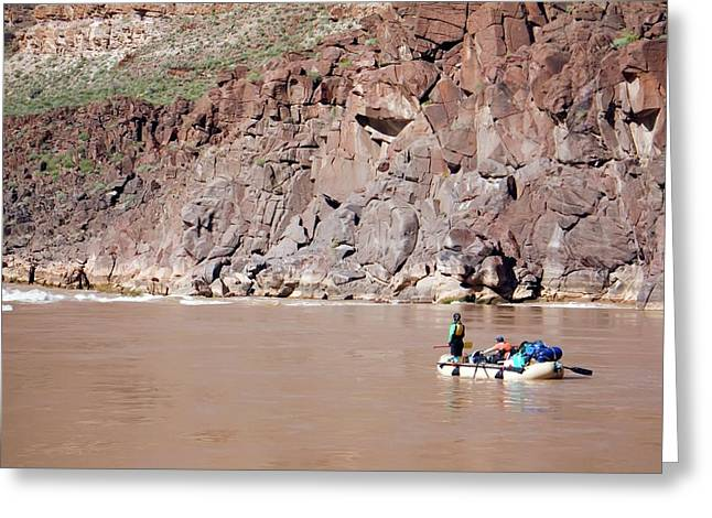 Rafting The Colorado Greeting Card by Jim West