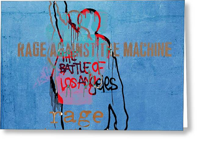 Rage Against The Machine Greeting Card by Dan Sproul