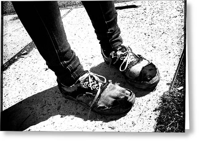 Ragged Shoes Greeting Card by Marco Oliveira