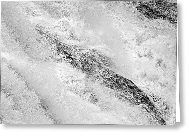 Raging - Close Up Of A Roaring Waterfall Greeting Card