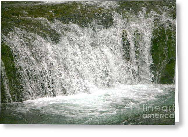 Raging Waters Greeting Card by Rich Collins