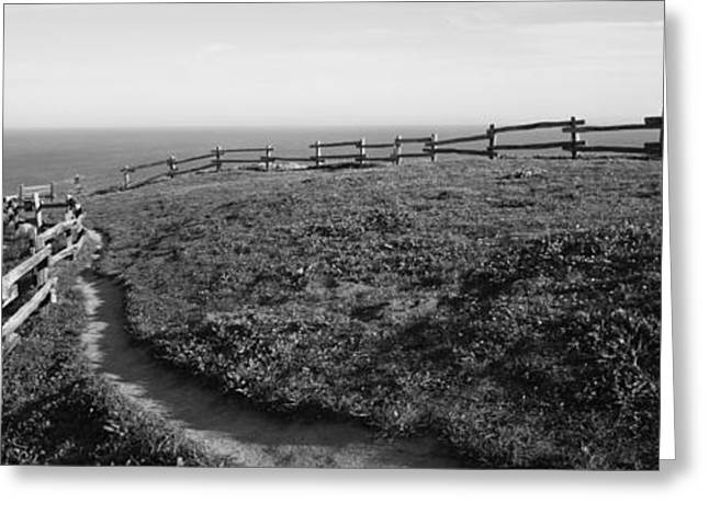 Rail Fence At The Coast, Point Reyes Greeting Card by Panoramic Images