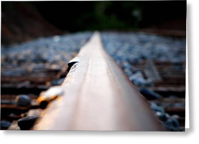 Greeting Card featuring the photograph Rail Line by Greg Simmons