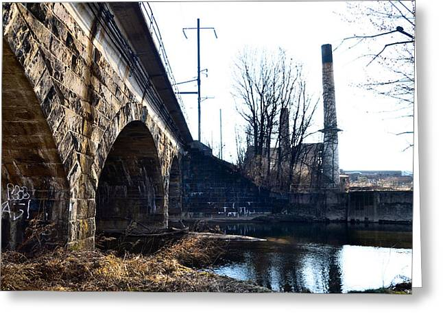 Rail Road Bridge Over The Brandywine Creek Downingtown Pa Greeting Card by Bill Cannon
