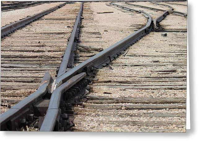 Rail Road Criss Crossing Photograph By Trent Mallett