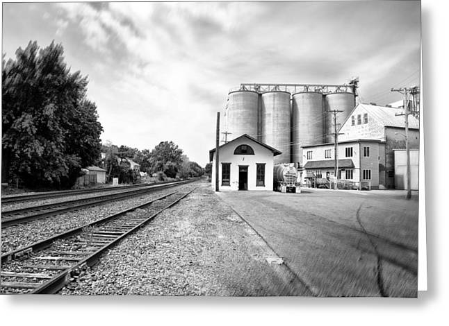 Rail Road In Rural Pennsylvania Greeting Card by Bill Cannon