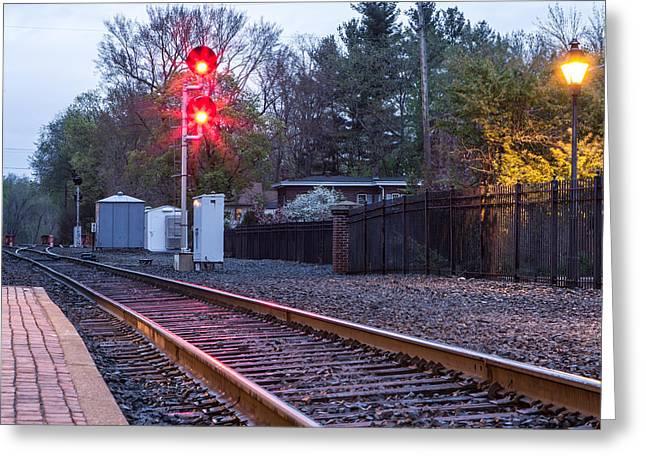 Rail Road Tracks Greeting Card