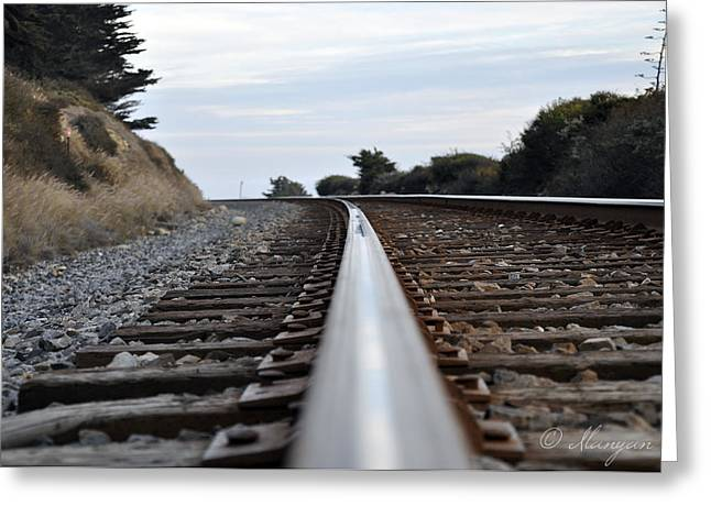 Rail Rode Greeting Card by Gandz Photography