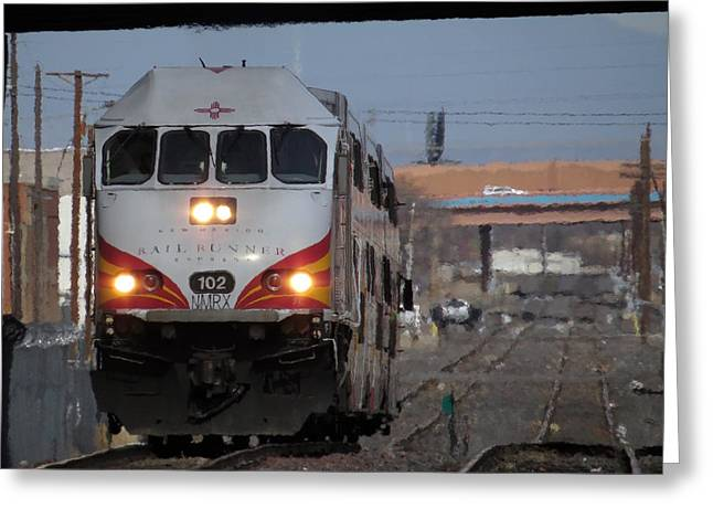 Rail Runner Greeting Card by Feva  Fotos