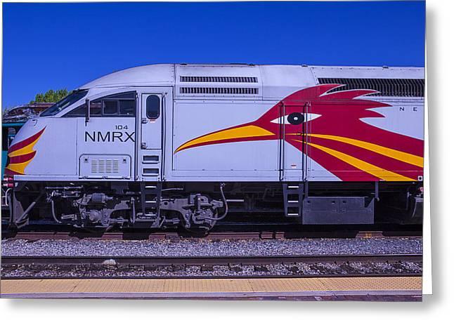 Rail Runner Train Greeting Card by Garry Gay