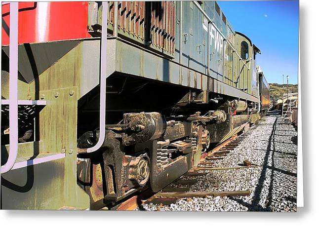 Greeting Card featuring the photograph Rail Truck by Michael Gordon