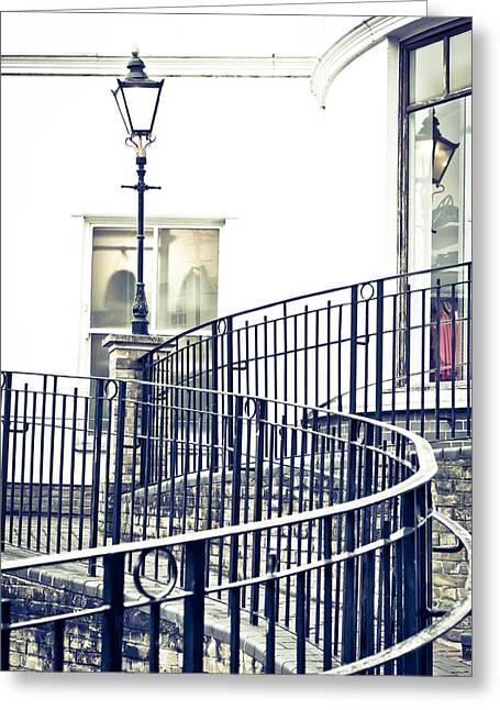 Railings And Lamp Greeting Card