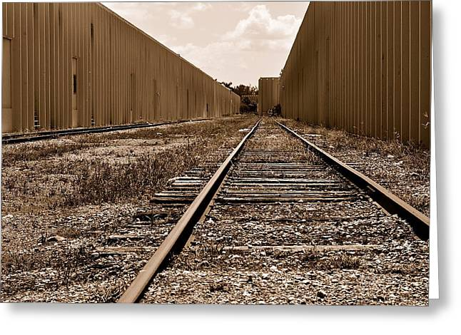 Railroad Greeting Card by Andres LaBrada