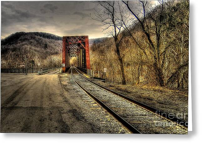 Greeting Card featuring the photograph Railroad Bridge by Brenda Bostic