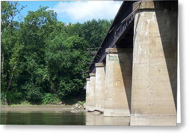 Railroad Bridge Greeting Card