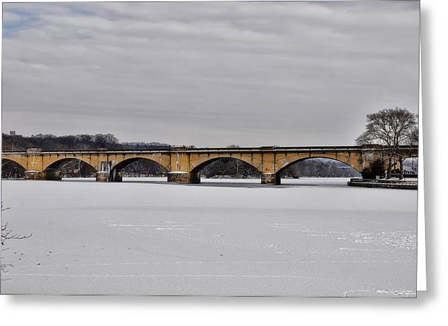 Railroad Bridge Over The Schuylkill River Greeting Card